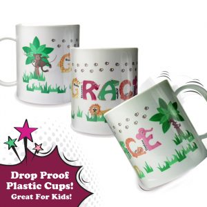 Animal Alphabet Personalised Plastic Mug