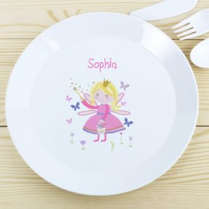 Garden Fairy Personalised Plastic Plate