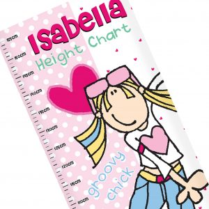 Groovy Chick Personalised Height Chart
