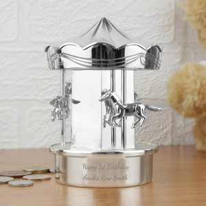 Personalised Carousel Money Box