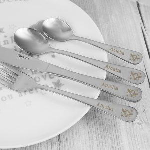 Personalised Fairy Motif Cutlery Set