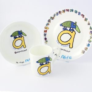 Animal Alphabet Breakfast Set for Boys