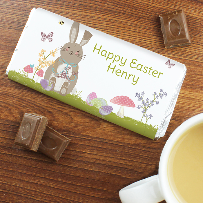 Personalised chocolate bar easter bunny personalised easter gifts personalised chocolate bar easter bunny negle Choice Image