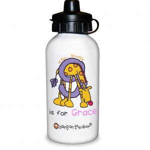 Animal Alphabet Personalised Water Bottle