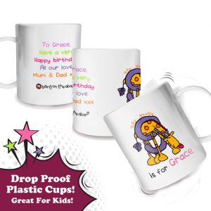 Girls Personalised Plastic Cup
