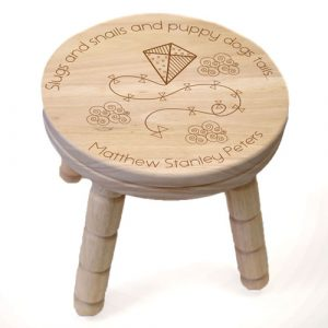Boys Personalised Wooden Stool