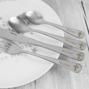 Personalised Cutlery Set - Cross Design