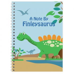 Personalised Dinosaur Notebook
