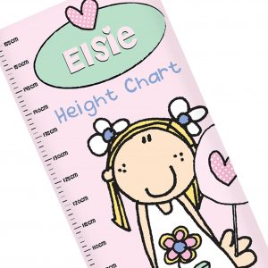 Personalised Girls Height Chart