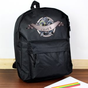 personalised army camo backpack
