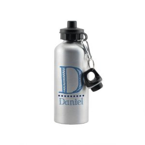Blue Name Personalised Drinks Bottle