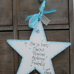 Handmade Wooden New Baby Sign