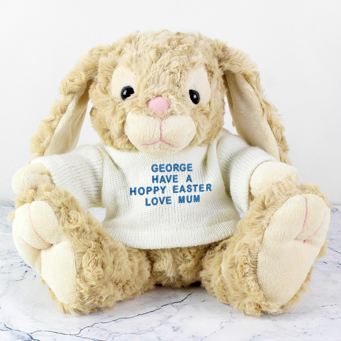 Personalised 1st easter gifts easter message bunny rabbit blue personalised 1st easter gift boys negle Choice Image