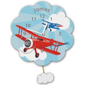 Airplane Personalised Wall Clock