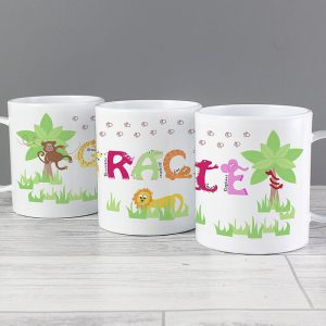 Animal Alphabet Personalised Plastic Cup