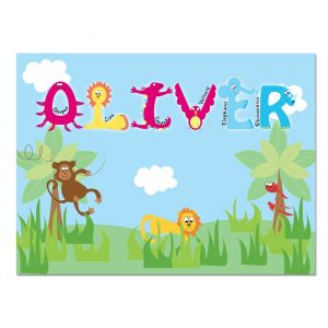 Personalised Animal Alphabet Placemat