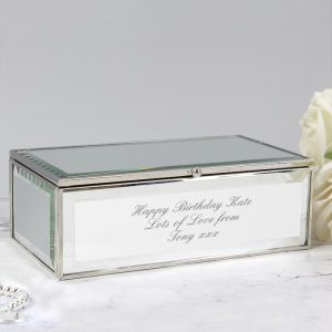 Any Message Mirrored Jewellery Box