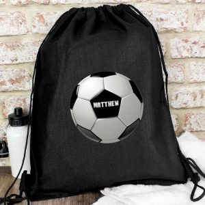 Black Football Kit Bag
