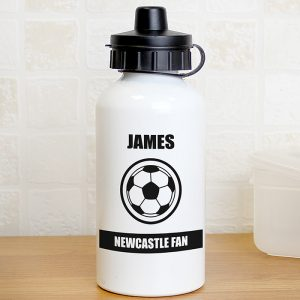 Black & White Football Drinks Bottle