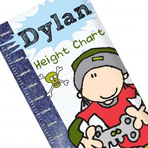 Boys Personalised Height Chart
