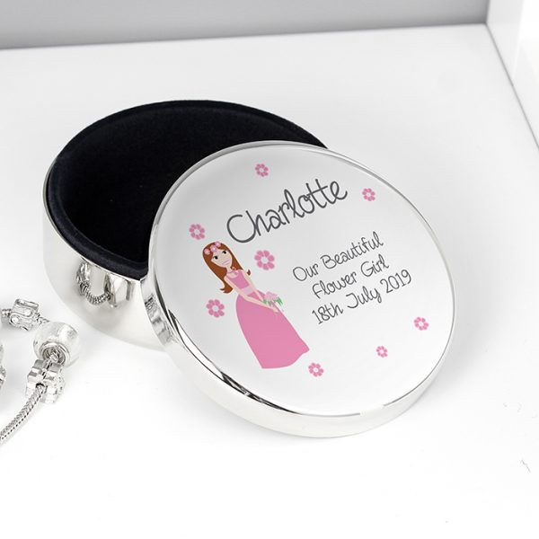 Bridesmaid Flower Girl Trinket Box