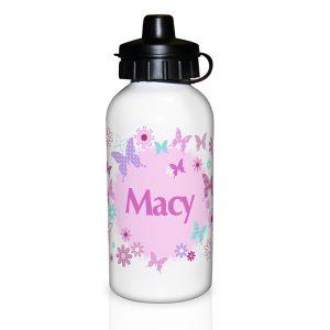 Personalised Butterfly Water Bottle