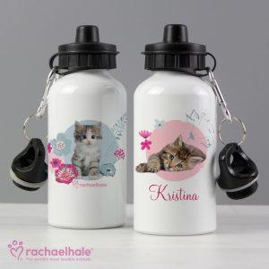 Cute Kitten Personalised Water Bottle