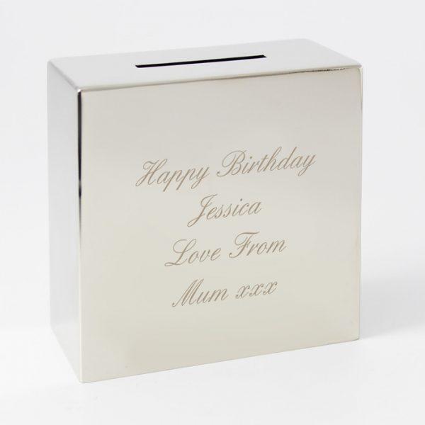 Engraved Money Box