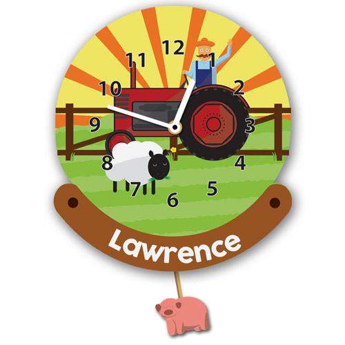 Farmer Personalised Wall Clock