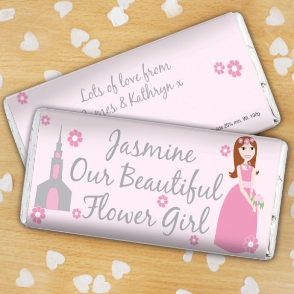 Flower Girl Personalised Chocolate