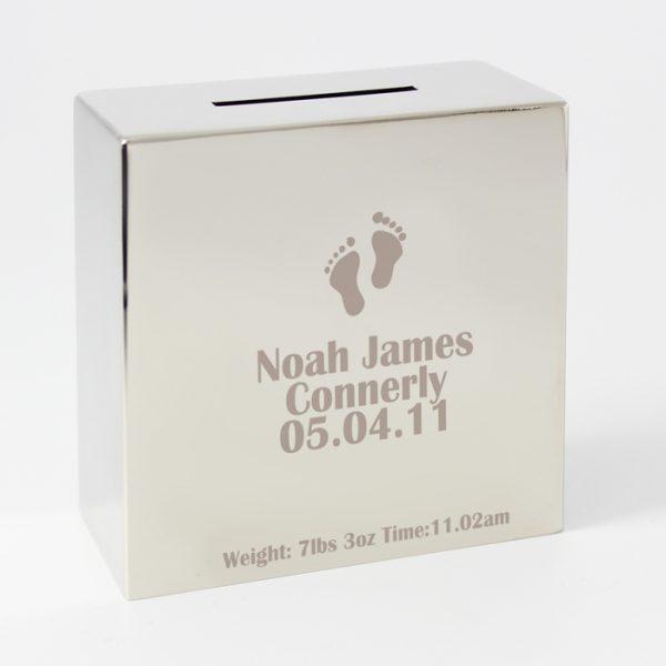 Footprint Personalised Money Box