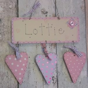 Handmade Personalised Name Sign