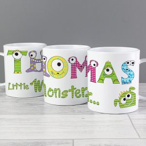 Monster Alphabet Personalised Plastic Mug
