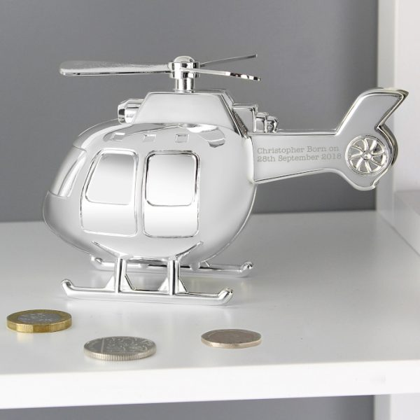 Personalised Helicopter Moneybox