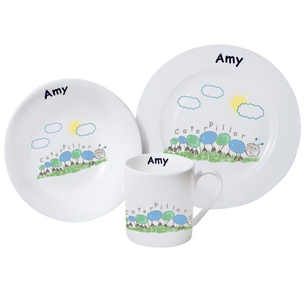 Caterpillar Personalised Breakfast Set