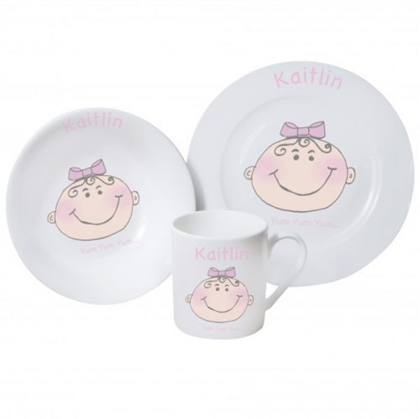 Baby Girl Breakfast Set
