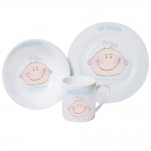 Baby Boy Personalised Breakfast Set