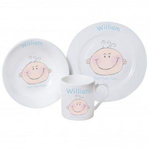 Baby Boy Personalised Breakfast Set