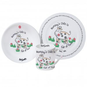 Monday's Child Breakfast Set