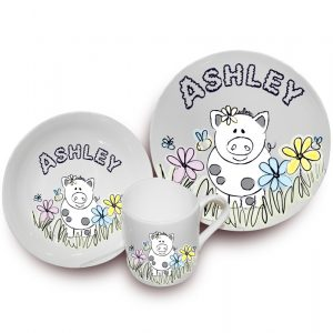 Farmyard Pig Personalised Breakfast Set
