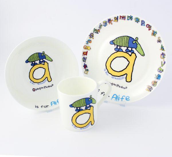 Animal Alphabet Breakfast Set for Boys