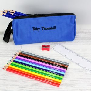 Boys Personalised Pencil Case & Pencils