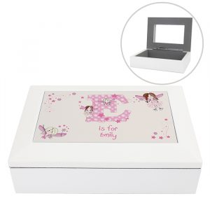 Personalised Wooden Jewellery Box Fairy