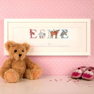 New Baby Framed Name