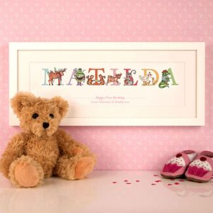 1st Birthday Name Frame