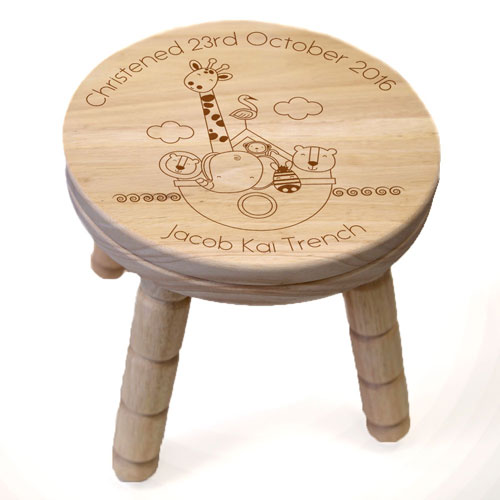 Personalised Noah's Ark Stool