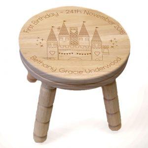 Fairytale Castle Personalised Wooden Stool