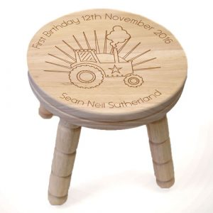 Personalised Tractor Wooden Stool