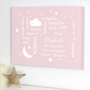 Personalised Canvas Nursery Picture