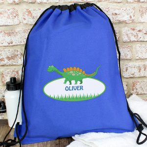 Personalised Dinosaur P.E. Swim Kit Bag